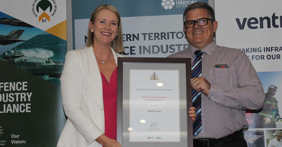 SAGE Group wins Minister's Award for Excellence in the Defence Industry